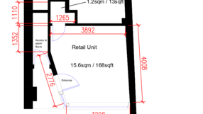 9613 shop office dimensions   areas